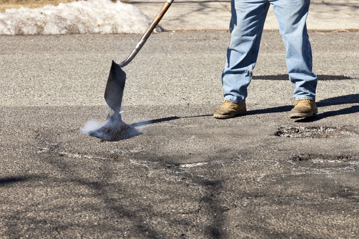 Pothole Filling by Duval Paving, LLC