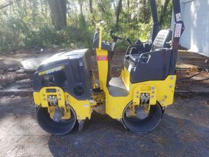 Our New Bomag Roller. Great for Compacting Driveway Millings & Asphalt in Jacksonville, FL and surrounding areas! (1)