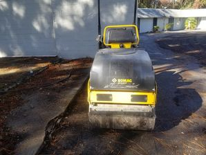 Our New Bomag Roller. Great for Compacting Driveway Millings & Asphalt in Jacksonville, FL and surrounding areas! (2)