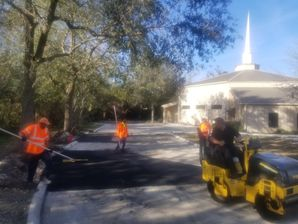 Parking lot Patching at the High Rock Baptist Church in St. Johns, FL (1)