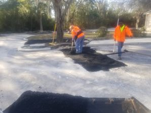 Parking lot Patching at the High Rock Baptist Church in St. Johns, FL (2)