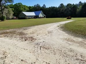 Before and After Asphalt Millings in Alachua, FL (1)