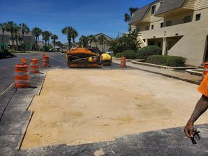 Before & After Parking Lot Repair in St Augustine Beach, FL (1)