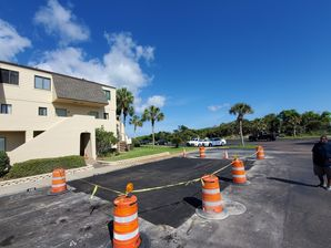 Before & After Parking Lot Repair in St Augustine Beach, FL (2)