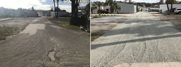 Before & After Recycled Asphalt Milling in Jacksonville, FL (1)