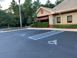 Commercial Parking Lot Sealcoating & Striping in St Augustine, FL (1)