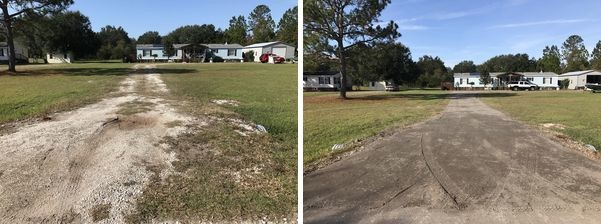 Before & After Recycled Asphalt Milling in Jacksonville, FL